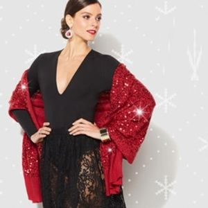 IMAN Luxury Chic Sequin Wrap in Glamous Red